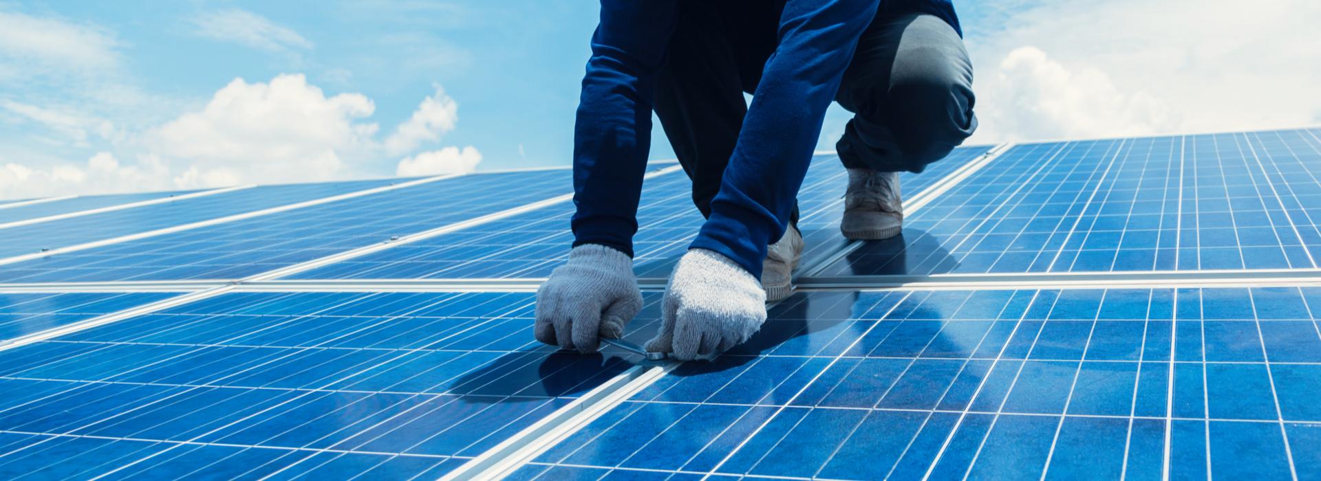 Solarpanels Montage